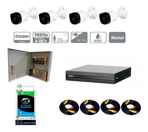 Kit 8 Canales 4 Mp 4 Camaras B1a21 1080p Dvr 4mp Lite 20m
