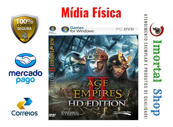 Age Of Empires 2 Hd Mídia Física Pc