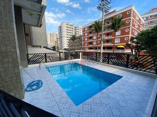 Apartamento Com 3 Dormitórios À Venda, 95 M² Por R$ 340.000,00 - Tupi - Praia Grande/sp - Ap4122