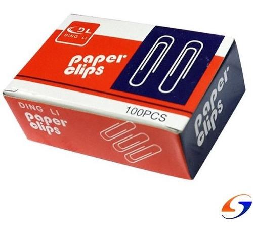 Imagen 1 de 3 de Clips Papeles Redondos 28 Mm. Caja X1000 Serviciopapelero