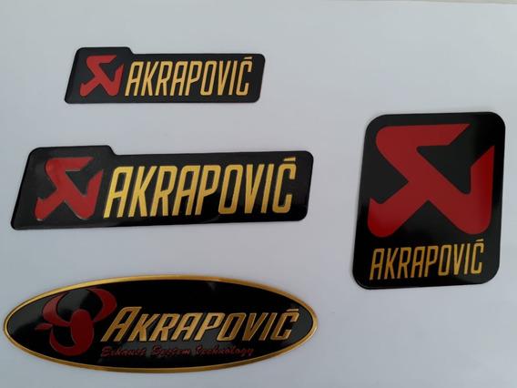 2 Adesivo Emblema Aluminio Escapament Akrapovic Frete Grátis