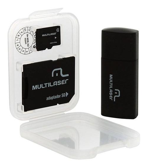 Cartão Micro Sd De Memória 64gb Cla10 Nota Fiscal Multilaser