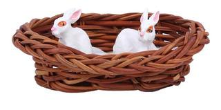 1:12 Casa De Muñecas Miniatura Conejo Nido Modelo De Zanaho