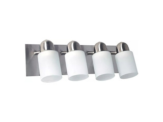 Aplique 4 Luces Led Pared Base Acero 60w
