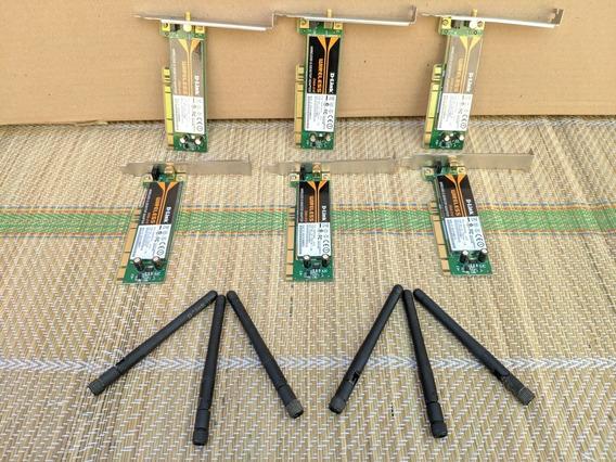 Kit 6 Placa Wireless D-link Dwa-510 (não Testadas)