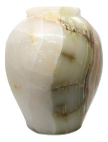 Vaso Mesa Pote Redondo Pedra Ônix Paquistão 25x20cm S/juros