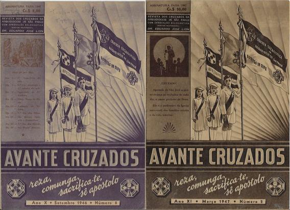 1946/1947 2 Revistas Avante Cruzados Arquidiocese São Paulo