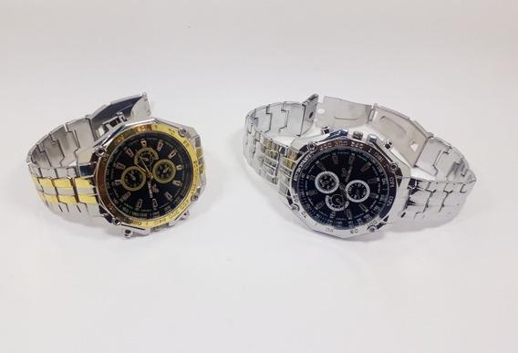 Relógio Masculino Orlando Kit 2 Pulseira Aço Inox Promoção