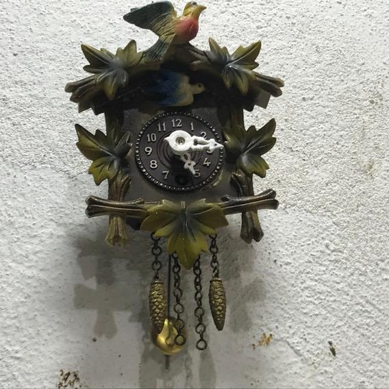 Hermoso Mini Reloj Cucu Cuerda Vintage 100% Original Aleman