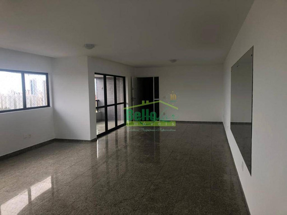 Apartamento Com 4 Dormitórios Para Alugar, 215 M² Por R$ 5.200/mês - Casa Forte - Recife/pe - Ap1441