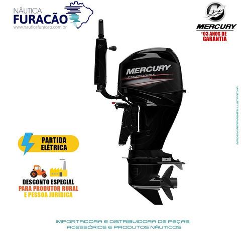 Motor De Popa Mercury 4 Tempos 60hp Elhpt Efi Ct Mid Tiller