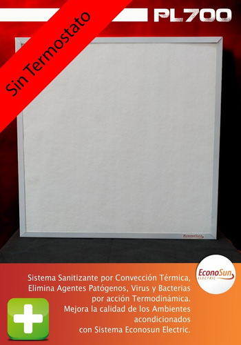 Imagen 1 de 7 de Panel Calefactor Bajo Consumo Elctrico Pl 700 C/termostato