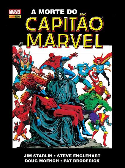 A Morte Do Capitão Marvel - Jim Starlin. (capa Dura)