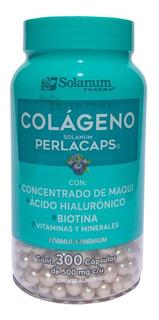 Colágeno Perlacaps Ácido Hialurónico Y Biotina 300 Cápsulas.