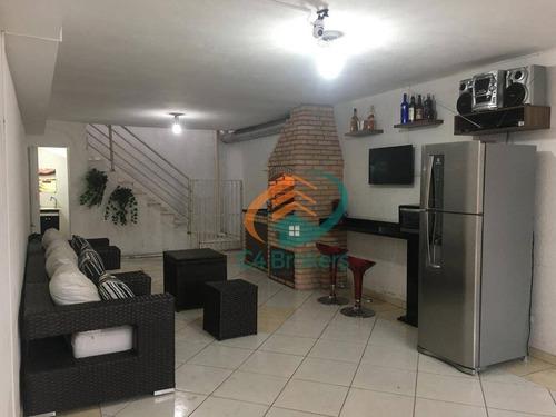 Imagem 1 de 20 de Sobrado Com 3 Dormitórios À Venda, 180 M² Por R$ 750.000,00 - Jardim Lisboa - São Paulo/sp - So0288