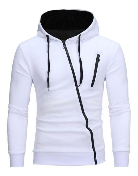 Sweater / Sueter Slim Fit Cierre Diagonal