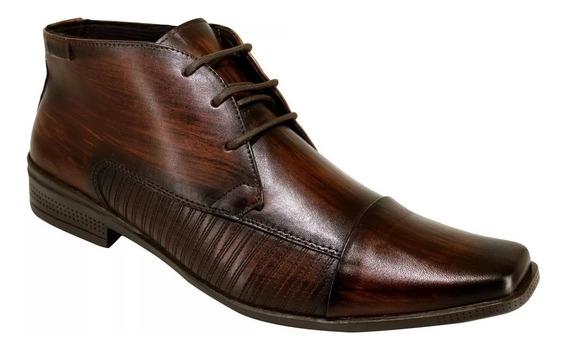 Sapato Masculino Ferracini De Couro Cardaço Ref 4363