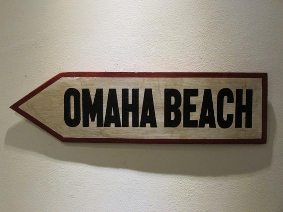 Placa Madeira Segunda Guerra Mundial Normandia Dia D Omaha