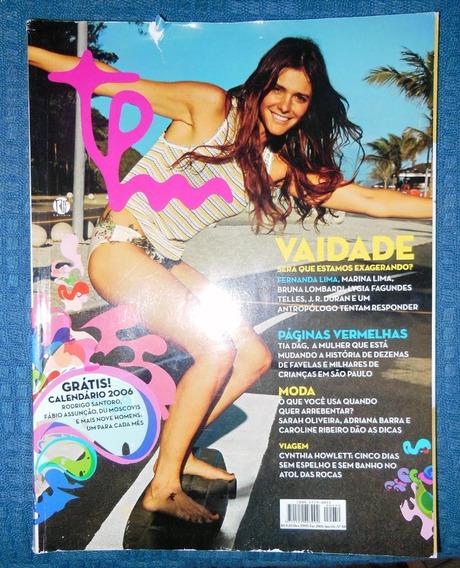 Revista Tpm 50 Dezembro 2005 Fernanda Lima Bruna Lombardi