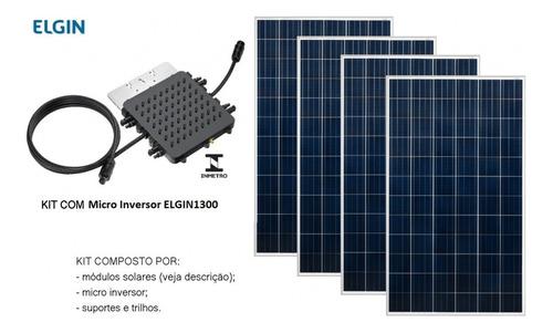 Kit Fotovoltaico Elgin 1,3kwp 4 Placas 370w