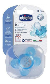 Chupete Physio Chicco 0-6m Comfort Celeste