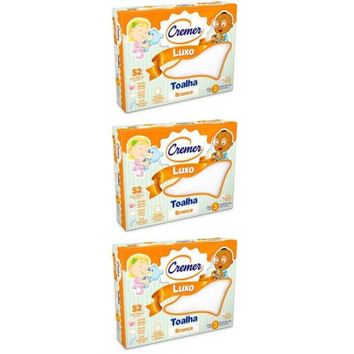 Cremer Luxo Toalha Infantil C/3 (kit C/03)