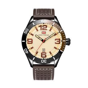 Mini Focus Moda Hombres Metal Impermeable Reloj Ajustable Ba