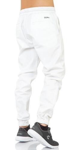 Pantalon Furor Hombre Blanco Gabardina Stretch Jogger Raw Salvaje Tentacion St