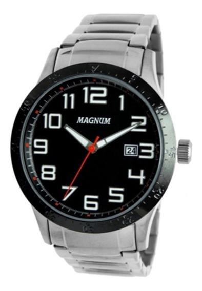 Kit Relógio Masculino Magnum Analógico Ma32890c - Preto