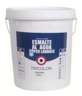 Pintura Esmalte Al Agua Tricolor Blanco Super Lavable