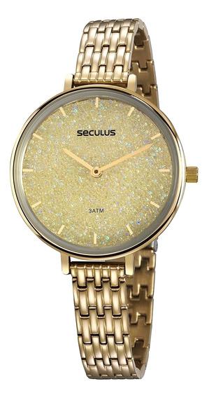 Relógio Seculus Slim Feminino Com Cristais 20839lpsvds1