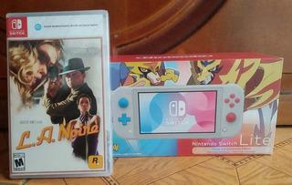 Nintendo Switch Lite Edición Pokemon +juego Gratis L.a Noire