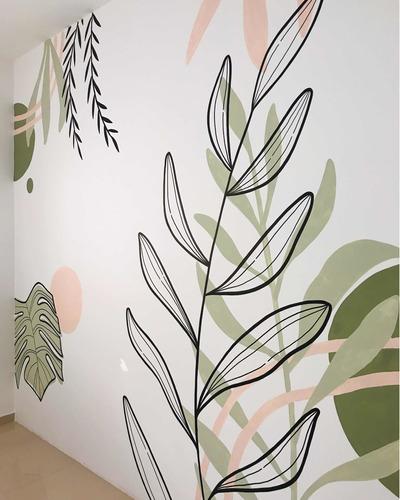 Imagem 1 de 3 de Arte Floral Na Parede - Tudo Feito A Mão