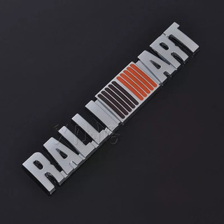 3d Ralliart Grill Grille Emblem Red Yellow And Silver Univer