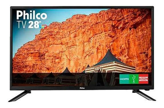 Monitor/tv Led 28 Philco Ph28n91d Hd Usb Hdmi Preta