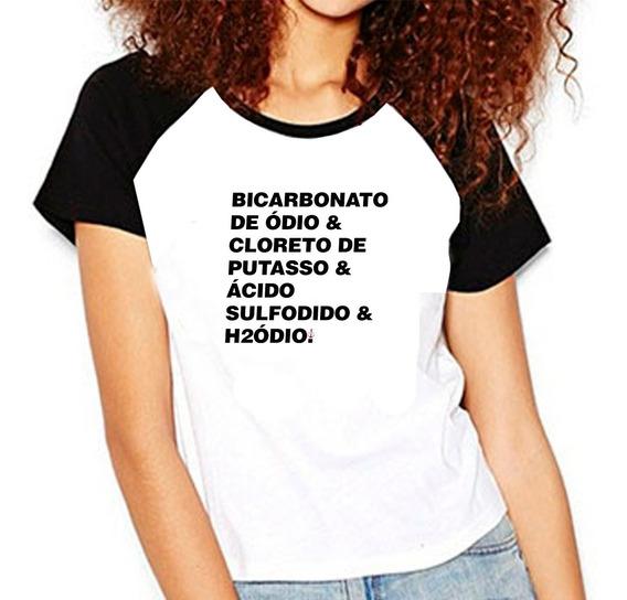 Camiseta Masculina Bicarbonato De Ódio Cloreto Ranço Raglan