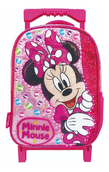 Mochila Minnie Disney C/ Carro Jardin C/ Luz 12 Km208 Maple