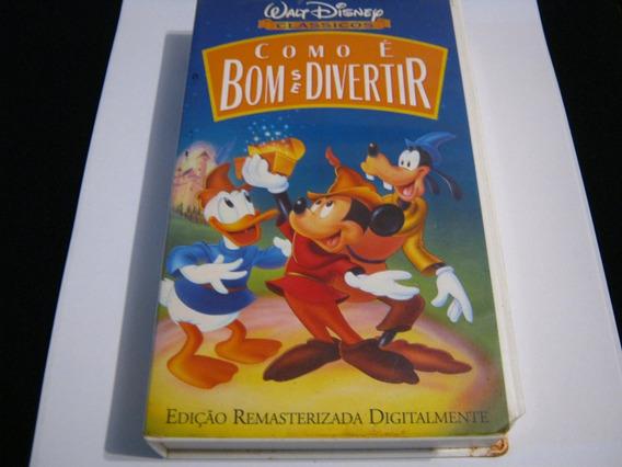 Fita Vhs Mickey Walt Disney Filme Infantil Dublado