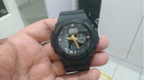 Relógio Amarelo E Preto Lindo