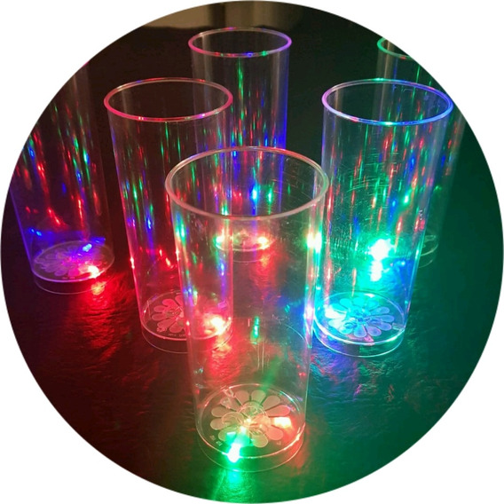 60 Vasos Luminosos Led , Cotillon Luminoso Led , Fluor !!!