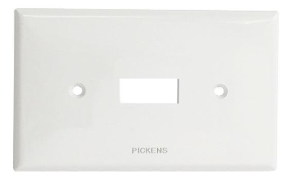 Tapa Para Apagador Sencillo Color Blanco Pickens