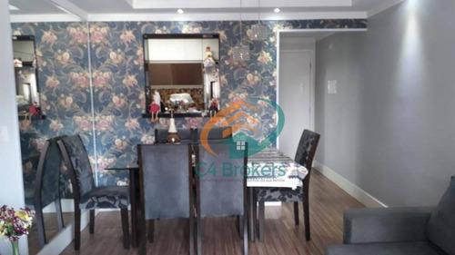 Apartamento À Venda, 72 M² Por R$ 385.000,00 - Macedo - Guarulhos/sp - Ap0551