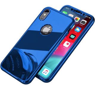 Funda 360 Lujo Espejo iPhone X 8 7 6 Plus 6s Se 5s 5 + Mica
