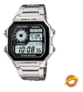 Reloj Casio Digital Ae-1200whd Hora Universal Cronometro