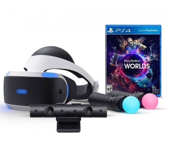 Playstation Vr Bundle Worlds Oculos Vr Ps4