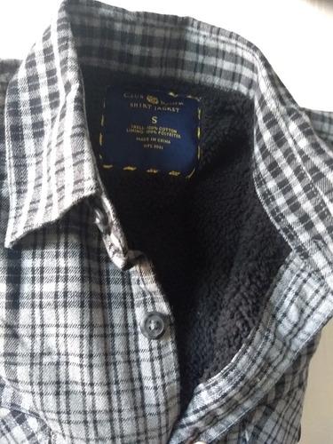 Camisa Chaqueta Hombre Leñadora Interior Acolchado Felpa