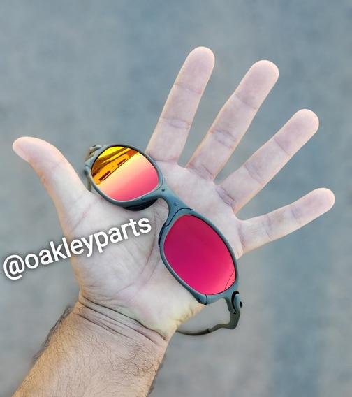 Óculos Juliet 24k Penny Double X Dark Ruby Pink Ouro+brindes
