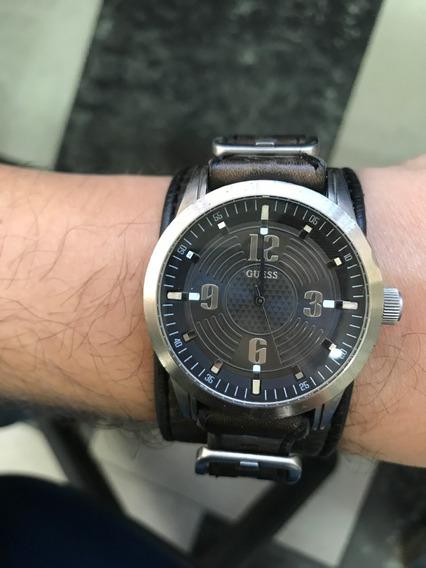 Relógio Guess Original Masculino Pulseira De Couro U75021g1 Usado