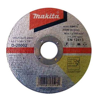 Disco Inox Makita 4.1/2 X 3/64 X 7/8 D-20002-10 Kit C/10