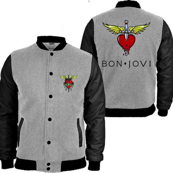 Casaco Moletom Bon Jovi College Blusa Moleton Banda 33